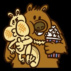 Popcorn-Bear and Moris