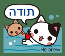 Cats in the world who appreciate cute sticker #1068055
