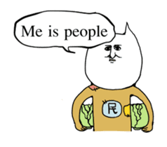 Me is people( English ver ) sticker #1076706