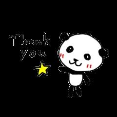 Greeting Panda -English