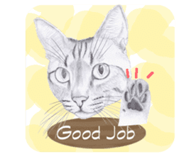 My cat Tama's stickers [For English] sticker #1078438