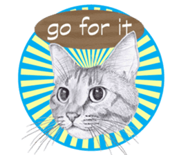 My cat Tama's stickers [For English] sticker #1078458