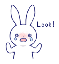 The rabbit get lonely easily (English) sticker #1078468