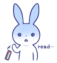 The rabbit get lonely easily (English) sticker #1078471