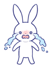 The rabbit get lonely easily (English) sticker #1078477