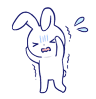 The rabbit get lonely easily (English) sticker #1078481