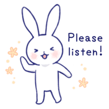 The rabbit get lonely easily (English) sticker #1078482
