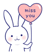 The rabbit get lonely easily (English) sticker #1078485
