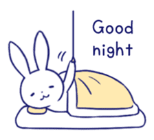 The rabbit get lonely easily (English) sticker #1078492