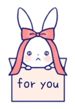 The rabbit get lonely easily (English) sticker #1078496