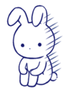 The rabbit get lonely easily (English) sticker #1078503