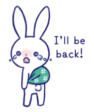 The rabbit get lonely easily (English) sticker #1078505