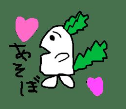 Rabbit or Radish sticker #1082306