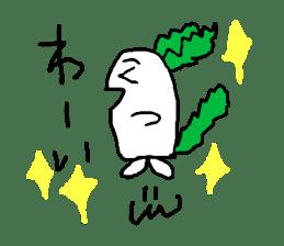 Rabbit or Radish sticker #1082309