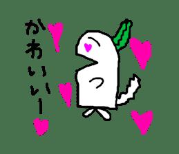 Rabbit or Radish sticker #1082310