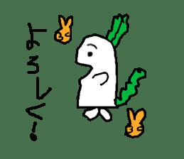 Rabbit or Radish sticker #1082315