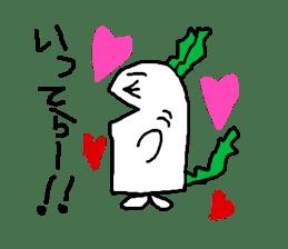 Rabbit or Radish sticker #1082318