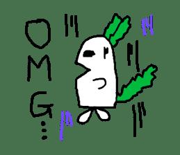 Rabbit or Radish sticker #1082329
