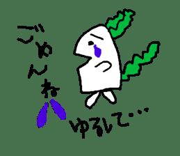 Rabbit or Radish sticker #1082331