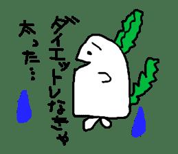 Rabbit or Radish sticker #1082340