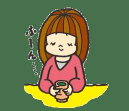 Nature of woman sticker #1082620