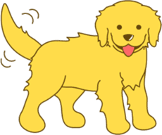Golden retriever sticker #1082708