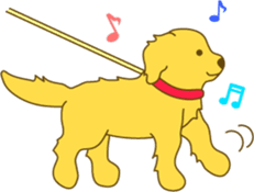 Golden retriever sticker #1082709