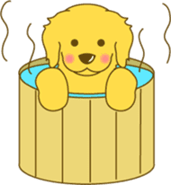 Golden retriever sticker #1082726