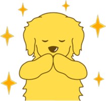 Golden retriever sticker #1082731