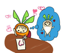 Caroline and Mr. Radish sticker #1083052