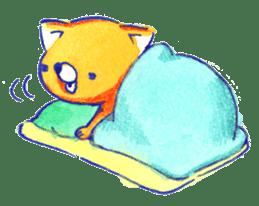 Futon Cat sticker #1083106