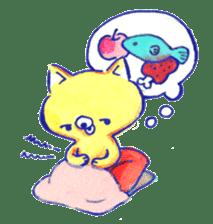 Futon Cat sticker #1083114
