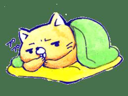 Futon Cat sticker #1083118