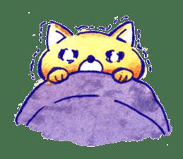 Futon Cat sticker #1083121