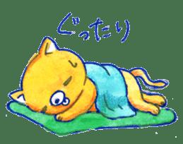 Futon Cat sticker #1083137