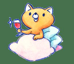 Futon Cat sticker #1083144