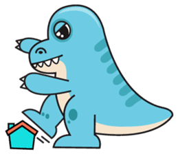 Cutest dinosaur pack sticker #1087194
