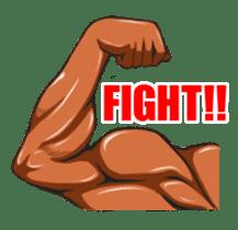 Muscle Sticker sticker #1087601