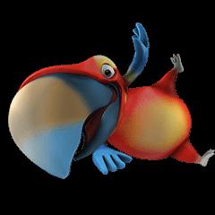 Zeezee, the funny parrot