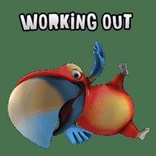 Zeezee, the funny parrot sticker #1088996