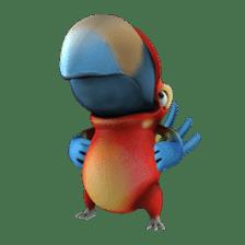 Zeezee, the funny parrot sticker #1089004
