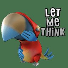 Zeezee, the funny parrot sticker #1089009
