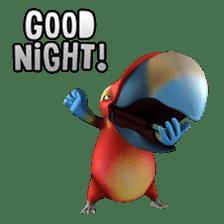 Zeezee, the funny parrot sticker #1089011