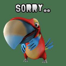 Zeezee, the funny parrot sticker #1089013