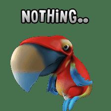 Zeezee, the funny parrot sticker #1089018