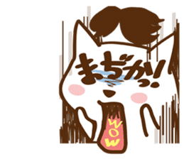 wig cat --ZURA NEKO-- sticker #1090427