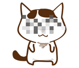wig cat --ZURA NEKO-- sticker #1090450