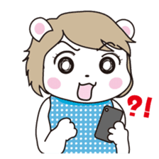 Daily life of the white bear sticker #1090557