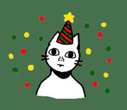 Straight face cat sticker #1095632