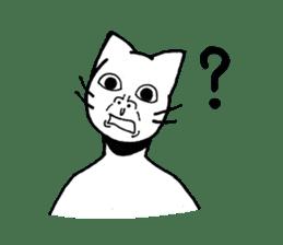 Straight face cat sticker #1095638